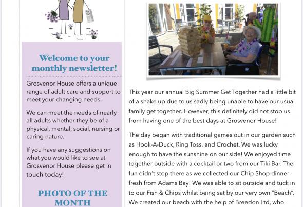 September Newsletter | Grosvenor Care